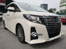 2016 TOYOTA ALPHARD 2.5 SC FULL SPEC FULL LEATHER = PreCrash = JBL = SUNROOF = 4 Camera = NAPPA