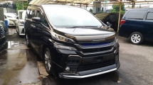 2016 TOYOTA VELLFIRE Unregistered Toyota Vellfire 2.5 GOLDEN EYE (2016/Black) With Japan Front Aero Tourer Sports Grille & Modellista Bumper lip.