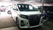 2015 TOYOTA ALPHARD Unregistered Toyota Alphard 2.5 SC (White/2015) Sunroof spec.