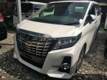 2016 TOYOTA ALPHARD Unregistered Toyota Alphard 2.5 SC (White/2016) Full Spec