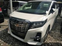 2016 TOYOTA ALPHARD Unregistered Toyota Alphard 2.5 SC (White/2016) Full Spec