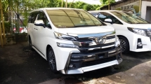 2015 TOYOTA VELLFIRE Unregistered 2015 Toyota Vellfire 2.5 ZG with Front LED bumper & Japan styling kit. (Full Spec)