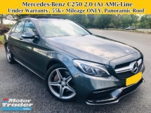 2016 MERCEDES-BENZ C-CLASS C250 2.0 (A) AMG Full Service 55k Mileage Under Warranty Panoramic Roof