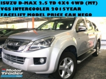 2015 ISUZU D-MAX 2.5 (M)  TD VGS INTERCOOLER 4X4 4WD  NEW FACELIFT PRICE CAN NEGO FORD RANGER