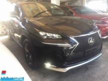 2016 LEXUS NX 200 T F SPORT UNREGISTER.TRUE YEAR MADE.HIGHSPEC.SPORT PADDLE SHIFT N BODYKIT N GRILL.AUTO BRAKE SYSTEM.LED DAYLIGHT.MEMORY SEAT.RED LINE LEATHER.FREE WARRANTY N GIFTS