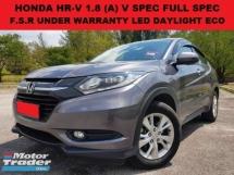 2016 HONDA HR-V 1.8 (A) V SPEC FULL SEPC SUV FULL SERVICE RECORD UNDER WARRANTY PUSH START REVERSE CAMERA ECO MODE SUV