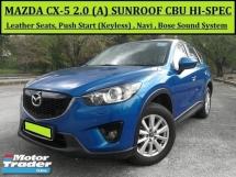 2012 MAZDA CX-5 2.0 (A) SKYATIV CBU Full Spec Sunroof Keyless P/Start FREE WARRANTY!