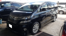2010 TOYOTA VELLFIRE 2.4Z PLATINUM SELECTION (A) REG 2015, CHANGE TO NEW FACESLIT, ONE CAREFUL OWNER, 7 SEAT, 2 POWER DOOR, POWER BOOT, 18