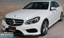2013 MERCEDES-BENZ E-CLASS E250 2.0 AMG Turbo New Facelift UNREG FULL LOAN