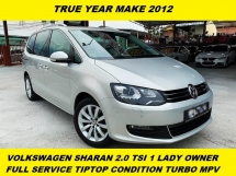 2012 VOLKSWAGEN SHARAN 2.0 TSI TURBO MPV CAR KING 1 LADY OWNER ORI PAINT FULL SERVICE