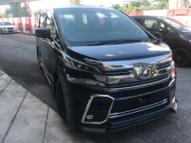 2015 TOYOTA VELLFIRE 2.5 Z-G EDITION MODELISTA BODYKIT , ALPINE PLAYER , ALPINE ROOF MONITOR , PRE-CRASH , SUNROOF AND MOONROOF CHINESE NEW YEAR BEST IN TOWN PROMOTION