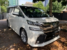 2015 TOYOTA VELLFIRE 2.5 ZA SUNROOF BIG ALPINE PLAYER AND MONITOR 2PDOOR 7 SEATER UNREG 1 YEAR WARRANTY