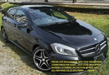 2014 MERCEDES-BENZ A-CLASS 2014 MERCEDES BENZ A180 AMG 1.6 TURBO NIGHT EDITION UNREG CAR SELLING PRICE ONLY RM 137000