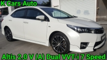 2015 TOYOTA COROLLA ALTIS 2.0 V (A) DUAL VVT-I 7 SPEED CVT LEATHER SEAT TOUCH SCREEN PUSH START PADDLE SHIFT KEEP LIKE NEW CAR CONDITION