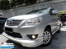 2012 TOYOTA INNOVA Toyota Innova 2.0 G LEATHER F/LIFT TRD DVD HI-SPEC