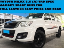 2015 TOYOTA HILUX G 2.5 (AT) 4X4 4WD REVERSE CAMERA CANOPY FULL LEATHER SEAT TRD SPEC