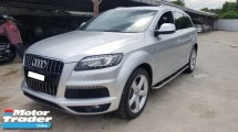 2013 AUDI Q7 3.0 TDI SLINE QUATTRO (A) REG 2014, UK SPEC, ONE CAREFUL OWNER, DIESEL ENGINE, POWER BOOT, REVERSE CAMERA, SIDE STEP, 20