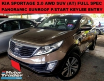 2012 KIA SPORTAGE 2.0 DOHC AWD SUV (AT) PANORAMIC SUNROOF KEYLESS ENTRY & START ELECTRIC ADJUSTABLE SEAT FULL LEATHER SEAT