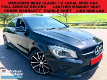 2015 MERCEDES-BENZ CLA 200 1.6 (A) LOCAL SPEC FULL SERVICE RECORD UNDER WARRANTY LEATHER MEMORY SEAT PADDLE SHIFT