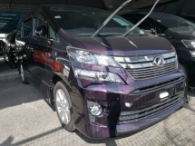 2014 TOYOTA VELLFIRE 2.4 ZG UNREG (JAPAN ALPINE DVD PLAYER)
