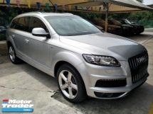 2014 AUDI Q7 3.0 S LINE DIESEL TURBO SUPERCHARGED POWER BOOT AIRMATIC SUSPENSION REVERSE CAMERA 20 SPORT RIM