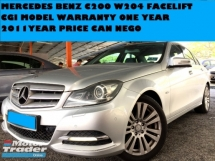 2011 MERCEDES-BENZ CLS-CLASS 1.8 CGI MODEL W204 FACELIFT LOCAL SPEC WARRANTY ONE YEAR