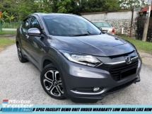 2018 HONDA HR-V 1.8(A) V FULL SPEC FACELIFT DEMO UNIT LOW MILEAGE 17K KM U.WARRANTY HONDA