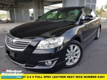 2010 TOYOTA CAMRY 2.4V HIGH SPEC LEATHER SEAT NICE NUMBER 6383
