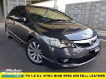2012 HONDA CIVIC 1.8S-L FULL LEATHER SEAT MODULO SPEC ONE OWNER \ LOW MILEAGE \ LADY OWNER VIP NUMBER 8000