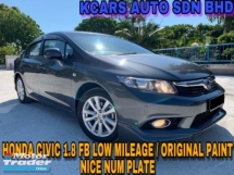 2014 HONDA CIVIC 1.8S FULL SVC RCD ORIGINAL PAiNT