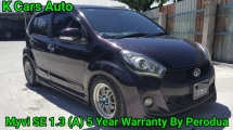 2016 PERODUA MYVI 1.3 SE (A) HIGH SPEC ORI MILEAGE 50K KM FULL SERVICE AND WARRANTY BY PERODUA UNTIL 2020 ( 5 YEAR WARRANTY ) ORI PASSO SEAT