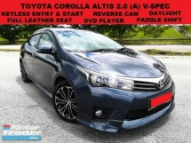 2014 TOYOTA COROLLA ALTIS 2.0 V SPEC (A) PADDLE SHIFT LEATHER ELECTRIC ADJUSTABLE SEAT KEYLESS ENTRY & START REVERSE CAM