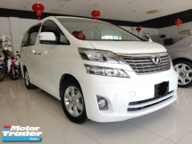 2011 TOYOTA VELLFIRE 2.4 FULL LEATHER 8 SEATED