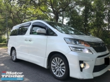 2012 TOYOTA VELLFIRE 2.4 (A ) Z PLATINUM - REGISTERED 2015 SUPERB CONDITION