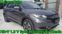 2017 HONDA HR-V 1.8 i-VTEC V SPEC FULL SERVICE AND WARRANTY BY HONDA UNTIL 2021 TOTALY LIKE NEW CAR CONDITION WHY NEED BUY NEW CAR