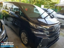 2015 TOYOTA VELLFIRE 2.5ZA Edition 7 Seater Power Boot Power Door Local AP Unreg