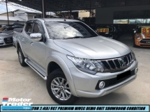 2018 MITSUBISHI TRITON 2.4 VGT PREMIUM NEW FACELIFT VERSION HIGH SPEC LOW MILEAGE 3KONLY  LIKE NEW CAR SHOWROOM CONDITION