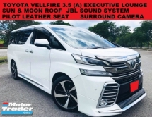 2015 TOYOTA VELLFIRE 3.5 (A) EXECUTIVE LOUNGE FULL SPEC PILOT LEATHER SEAT SUN & MOONROOF DUAL POWER DOOR & BOOT JBL SOUN