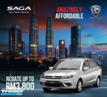 2018 PROTON SAGA 1.3 CVT (A) REBATE UP TO RM3,800