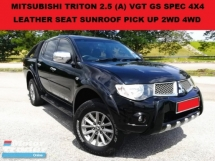 2014 MITSUBISHI TRITON 2.5 VGT GS FULL SPEC (A) PICK UP 4X4 LEATHER SEAT SUNROOF 4WD