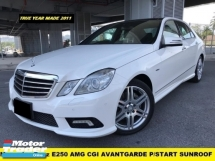 2011 MERCEDES-BENZ E-CLASS E250 CGI AMG 7 SPEED  LOW MILEAGE DOCTOR OWNER LOCAL SPEC