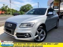 2014 AUDI Q5 2.0 TFSI QUATTRO S-LINE FACELIFT TIP TOP ONE MALAY LADY OWNER