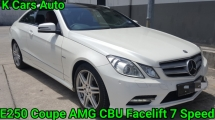 2012 MERCEDES-BENZ E-CLASS E250 C207 CGI COUPE FACELIFT AMG CBU 7 SPEED LIMITED RED NAPPA BUCKET SEAT SUNROOF HARMAN KARDON SOUND SYSTEM LINE ASSIT