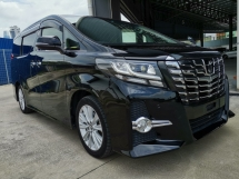 2016 TOYOTA ALPHARD 2.5 S 7S 2PDR RM Unreg Sale OFFER