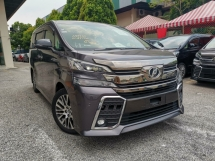 2015 TOYOTA VELLFIRE 2.5ZG Edition GREY COLOR OFFER UNREG