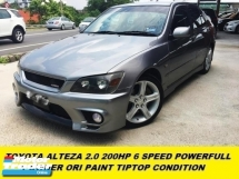 2002 TOYOTA ALTEZZA RS200 200HP 6 SPEED YAMAHA BEAM ENGINE SPORT SEDAN 1 OWNER ORI PAINT