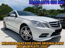 2012 MERCEDES-BENZ E-CLASS E250 CGI BLUE EFFICIENCY COUPE FACELIFT MODEL PANORAMIC SUNROOF
