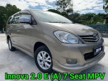2011 TOYOTA INNOVA 2.0 E (A) 7 SEATS MPV VERY GOOD CONDITION GUARANTEE NO REPAIR NEED