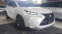 2016 LEXUS NX 2016 Lexus NX200 T F Sport Full Spec Sun Roof Power Boot Pre Crash Full Leather Head Up Display BSM Unregister for sale