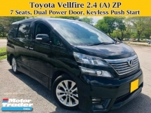 2010 TOYOTA VELLFIRE 2.4 (A) Z PLATINUM 7 SEATS MPV Sunroof Moonroof
